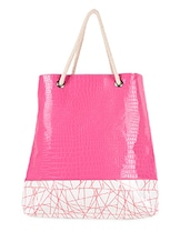 Pink Faux Leather Beach Bag - ARTychoke