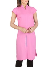 Pink Rayon Cotton Kurta - By
