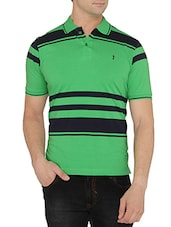 green, blue cotton blend tshirt -  online shopping for T-Shirts