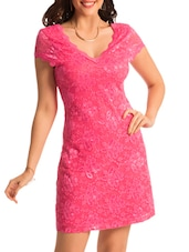 Pink Lacy Bodycon Dress - PrettySecrets