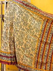 Arty Floral Printed Khadi Silk Saree - JBT