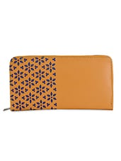 Floral Cut Work Mustard Clutch - Spice Art