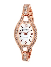 SOOMS DIAMOND STUDDED LADIES WATCH -  online shopping for Wrist watches
