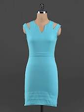 Sleeveless Sea Green Bodycon Dress - Guster Ve..