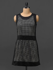 Black Polka-dotted Sleeveless Dress - Phenomena