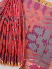 Pink Art Silk Banarasi Saree - Prabha Creations