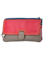 Color Block Leatherette Clutch -  online shopping for clutches