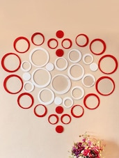 Wall Sticker 3D Circle Heart - Wall Whispers
