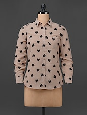 Printed Long Sleeves Georgette Shirt - Colbrii