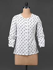 Printed Long Sleeves Polycrepe Shirt - Colbrii