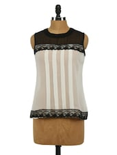 Sleeveless Colour Block Georgette Top - Imu