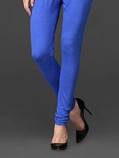 Blue Ankle Length Leggings - UPTOWNGALERIA