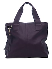 Fringes Dangler Solid Handbag - SATCHEL Bags