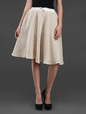 Off-white Cotton Crochet Skirt - Rediscoverfashions