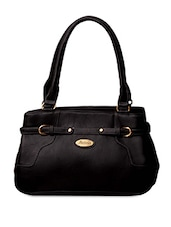Faux Front Buckle Strap Leatherette Handbag - FOSTELO