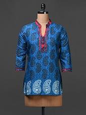 Cotton Paisley Print Tunic Top - Meiro - 1057208