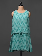 Georgette Chevron Printed Dress - Meiro