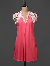 Printed Inward Box Pleat  Viscose Dress - Meiro
