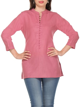 pink cotton kurti -  online shopping for kurtis