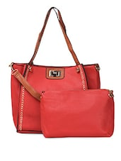 PU Handbag With Detachable Sling - ADISA