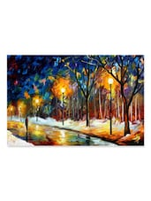 Lonely Walk In The Lake Wall Painting - WonderWallz