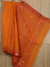 Floral Embroidered Pallu Net Saree - JBT