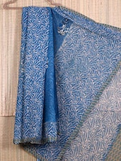 Printed Border Printed Net Saree - JBT