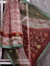 Print & Embroidered SUPERNET SAREE - JBT
