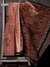 Floral Hand Painted SAREE - JBT