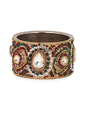Multi Metal Alloy & Stone Bangles - Art Mannia