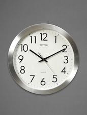 Silver Plastic Wall Clock - Rhythm - 1060710