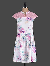 White Floral Printed Dress - Eavan