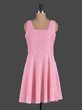 Pink Sleeveless Lace Dress - Eavan
