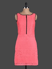 Coral Sleeveless Lace Dress - Eavan