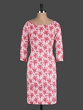 Off White Floral Printed Bodycon Dress - Eavan