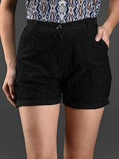Black Lace  Shorts - Eavan