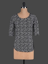 Black Polka Dots Printed Top - Eavan