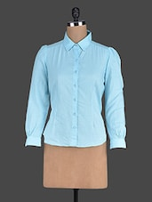 Sky Blue Cotton Shirt - Eavan