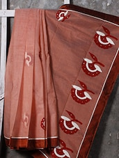 Floral Embroidered Pallu Net Saree - SURAVI