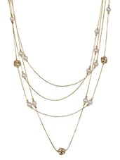 Golden Pearls  Multilayer Necklace -  online shopping for Necklaces
