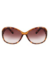 Zyaden Brown Oval Sunglasses For Women 128 - By
