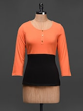 Quarter Sleeves Colour Block Top - Besiva