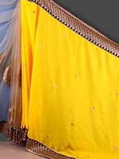 Embroidered And Net Half And Half Saree - Jashn