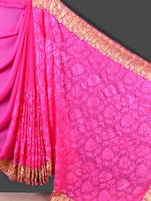 Zari Border Beautiful Work Chiffon Saree - Jashn