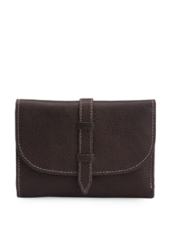 Compact Chocolate Brown Wallet - L'amore
