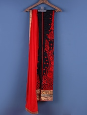 Red And Black Embroidered Suit Set - Viva N Diva