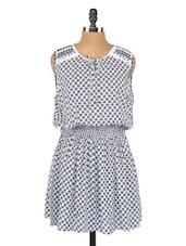 Printed Sleeveless Short Dress - Globus