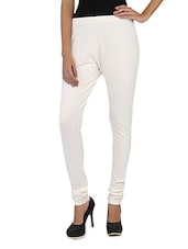 Plain Solid Cotton Lycra  Churidar Leggings - Globus