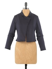 Full Sleeve Plain Lapel Neck Jacket - Globus