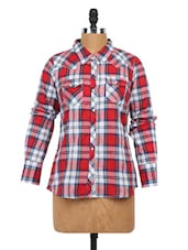 Checked Full Sleeve Cotton Shirt - Globus